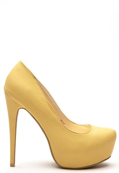Sugarfree Shoes Siri Shoes Yellow Bubbleroom.se