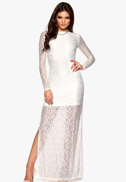 DRY LAKE Evelina Long Dress White Bubbleroom.se