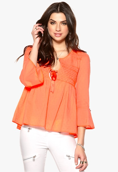 Odd Molly Remix Blouse Bright Orange Bubbleroom.se