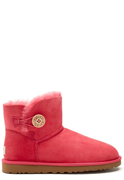 UGG Australia Mini Bailey Button Flamingo Pink Bubbleroom.se