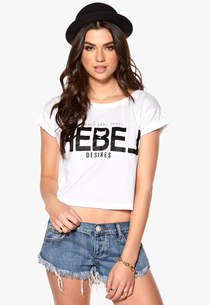 Desires Impact T-shirt 0001 White Bubbleroom.se