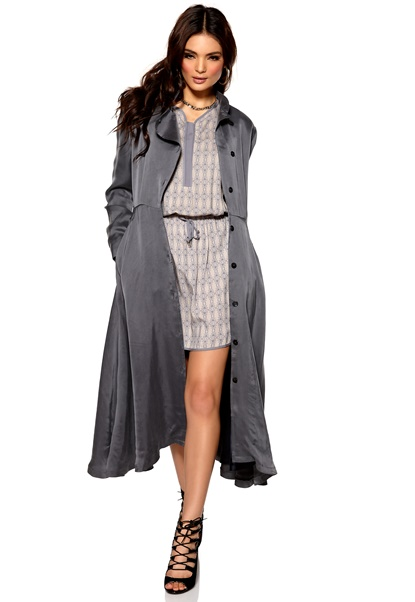 Diana Orving Robe Coat Grey Bubbleroom.se