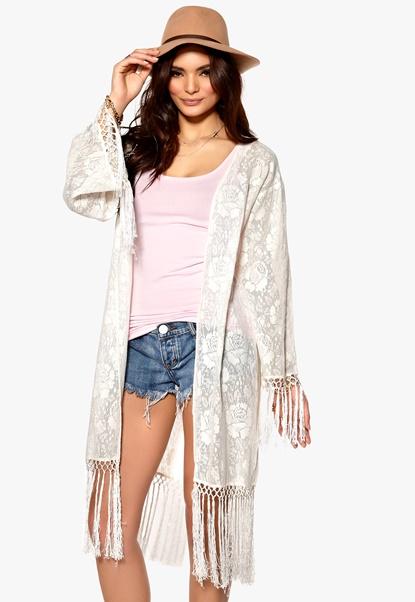 MINKPINK Summer Loving Lace Kimono Cream Bubbleroom.se