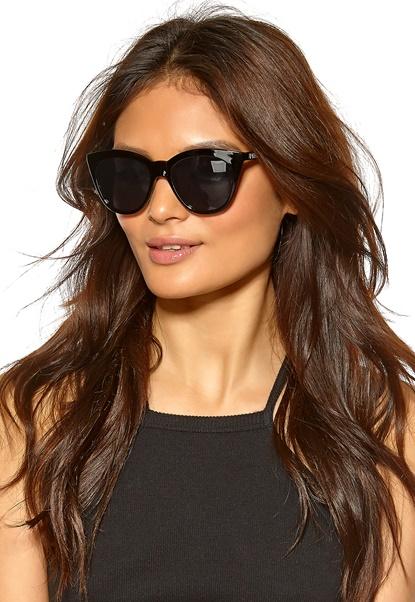 Le Specs Halfmoon Magic Sunglasses Black W/Smoke Mono Bubbleroom.se