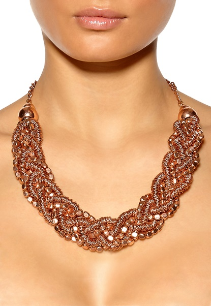SELECTED FEMME Agnes Necklace Copper Bubbleroom.se