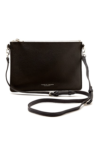 TIGER OF SWEDEN Ermellini Leather Bag 050 Black Bubbleroom.se