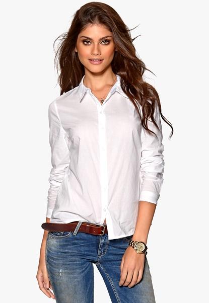 VERO MODA Kyle L/S Shirt Bright White Bubbleroom.se