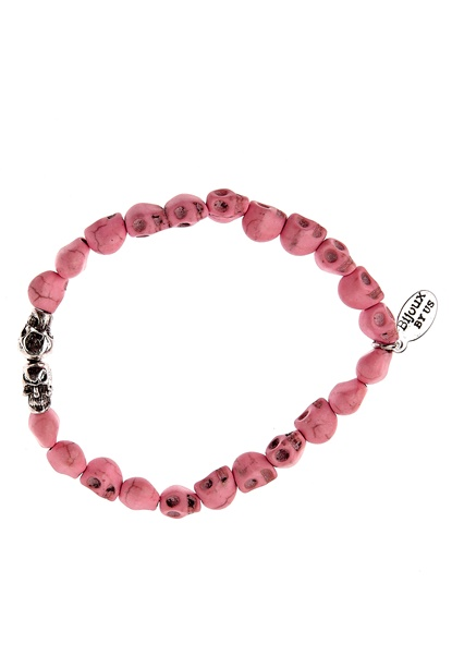 Bijoux by Us Cute Skulls Bracelet Peach Bubbleroom.se