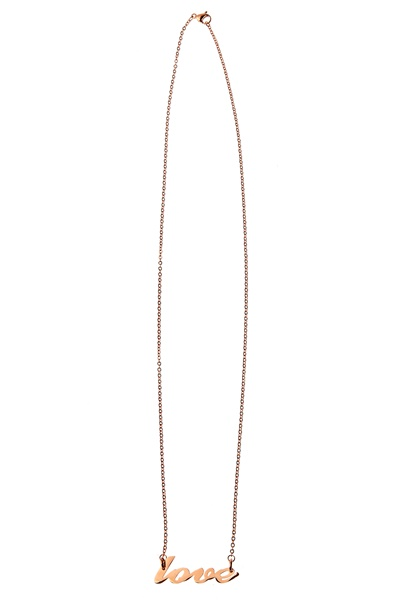 Bijoux by Us Stainless Love Necklace Rose Gold Bubbleroom.se