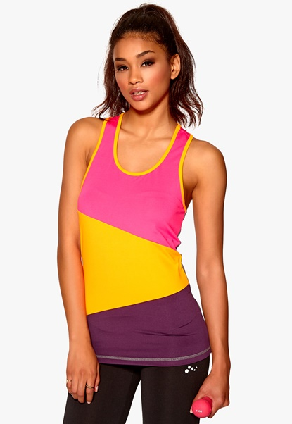 ONLY PLAY Tracy sl Training Top gun metal/pink Bubbleroom.se