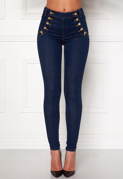 77thFLEA Adina highwaist jeans Midnight blue Bubbleroom.se