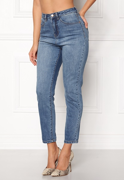 77thFLEA Felice high waist jeans Medium blue Bubbleroom.dk