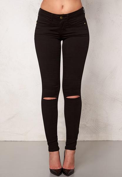 77thFLEA Vera superstretch jeans Black Bubbleroom.no