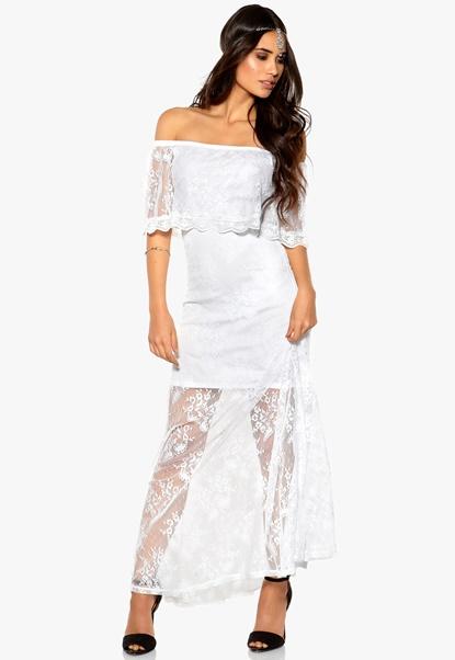Make Way Harlow Dress White Bubbleroom.se