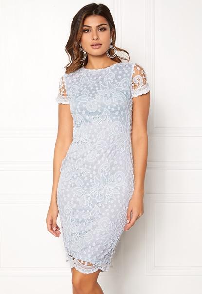 AX Paris Crochet Lace Midi Dress Blue Bubbleroom.dk