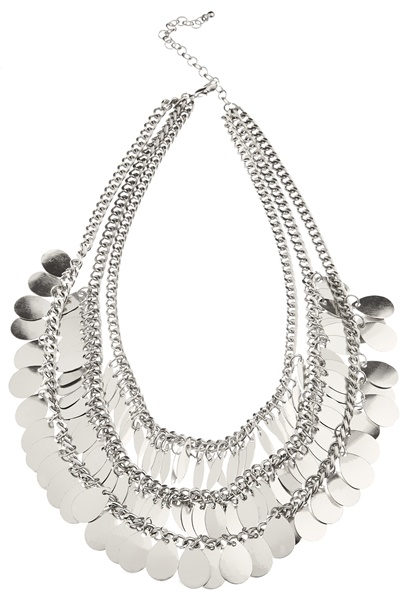 Pieces Basilla Necklace Silver Colour Bubbleroom.eu