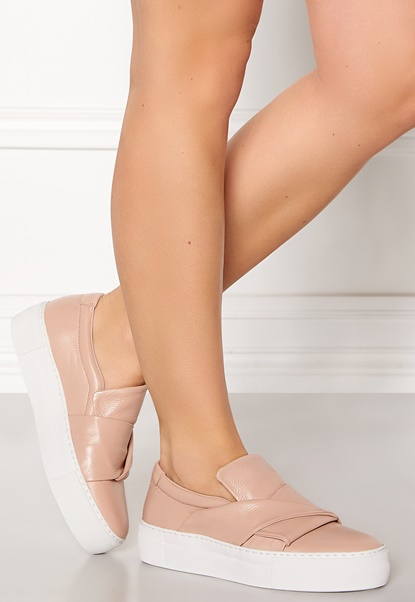 Billi Bi Leather Sneaker Nude Bubbleroom.se