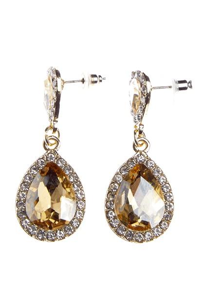 BUBBLEROOM Drops crystal earring  Bubbleroom.dk