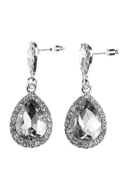 BUBBLEROOM Drops crystal earring Silver Bubbleroom.dk