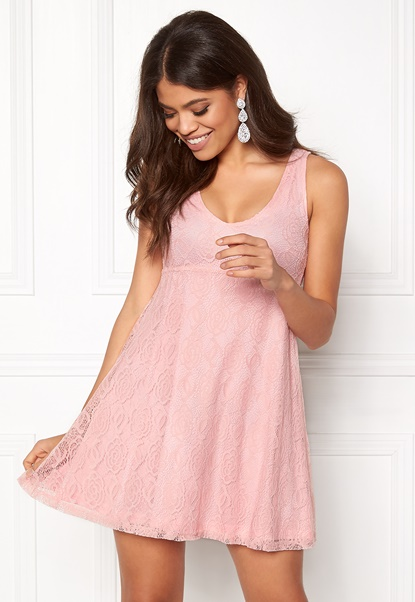 BUBBLEROOM Elly lace dress Light pink Bubbleroom.fi