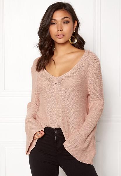 BUBBLEROOM Esther knitted sweater Dusty pink Bubbleroom.fi