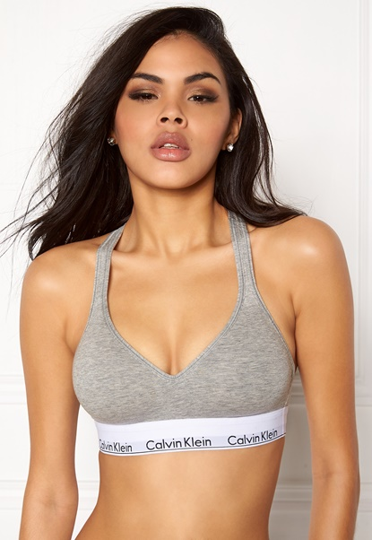 Calvin Klein CK One Bralette Lift. 020 Grey Heather Bubbleroom.no