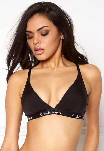 Calvin Klein CK Triangle Bra 001 Black Bubbleroom.dk
