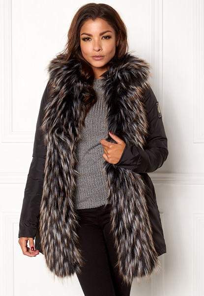 Chiara Forthi Igloo Fur Puffa Black Bubbleroom.se
