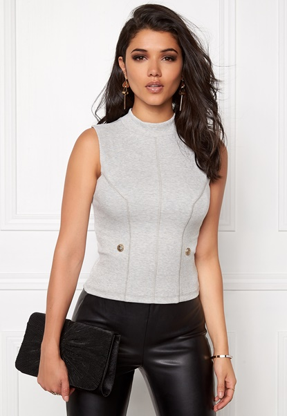 Chiara Forthi Intrend Buttoned Top Grey Bubbleroom.se