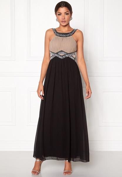 Chiara Forthi Matia Embellished Dress Black/wet sand Bubbleroom.se
