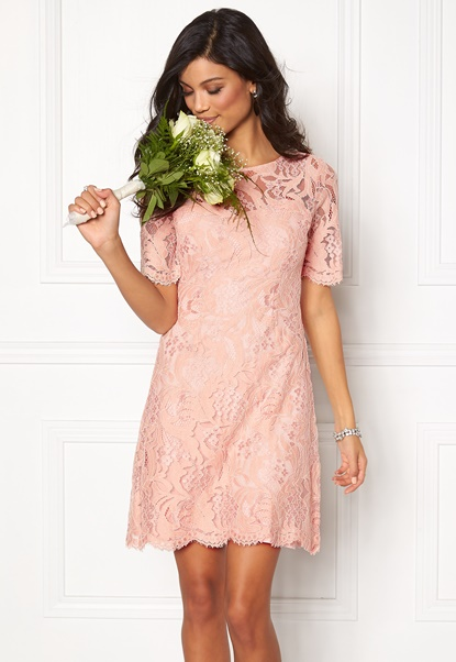 Chiara Forthi Michelle Lace Dress Old rose / Gold Bubbleroom.fi