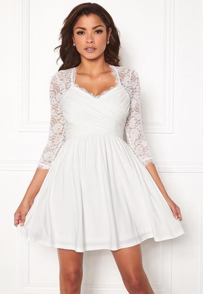 Chiara Forthi Natalia Dress White Bubbleroom.se