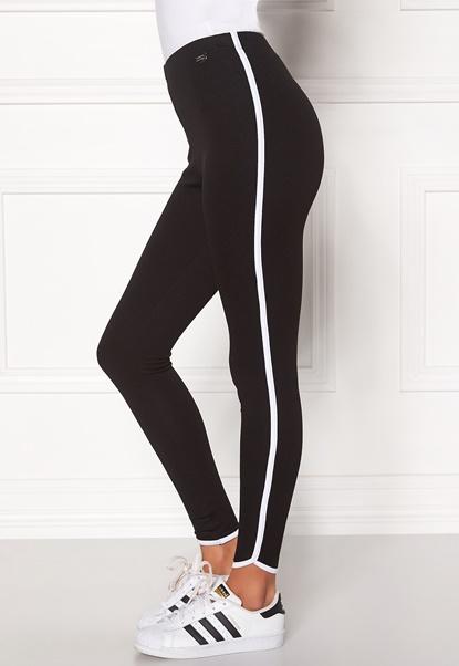Chiara Forthi Softish Pants Leggings Svart / Hvit Bubbleroom.no