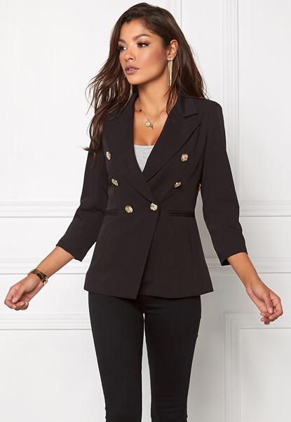Chiara Forthi Tailored Blazer Black / Gold Bubbleroom.no