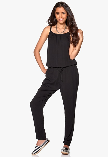 Culture Lavonne Jumpsuit Black Bubbleroom.se