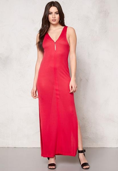DAGMAR Inaya Dress 248 Raspberry Red Bubbleroom.no