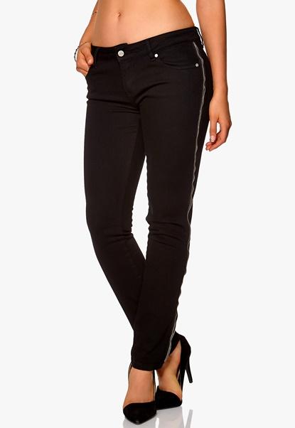 D.Brand Slim Fit Jeans Zipper Black Bubbleroom.se