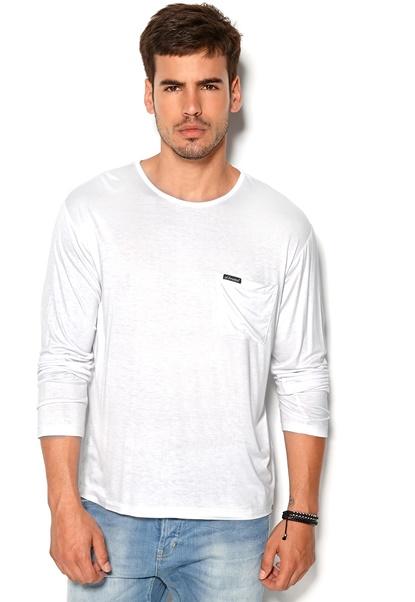 D.Brand Viktor Long Sleeve White Bubbleroom.se