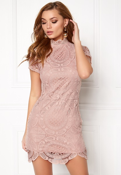 Girl In Mind Lace Dress Mauve Bubbleroom.no