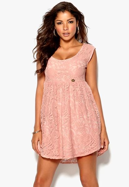 Chiara Forthi Giulia Lace Dress Pink Bubbleroom.se
