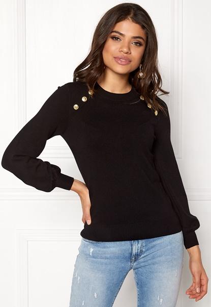 Happy Holly Amelia sweater Black Bubbleroom.dk