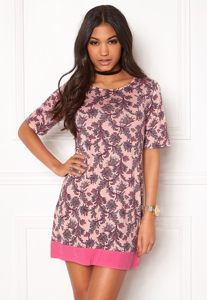 Happy Holly Belicia dress Pink / Patterned Bubbleroom.no