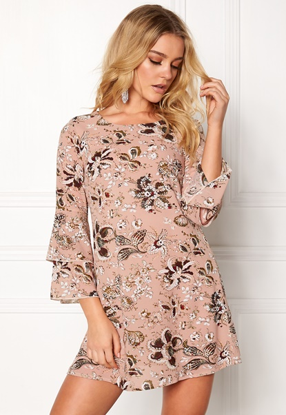 Happy Holly Charlene dress Pink / Patterned Bubbleroom.se