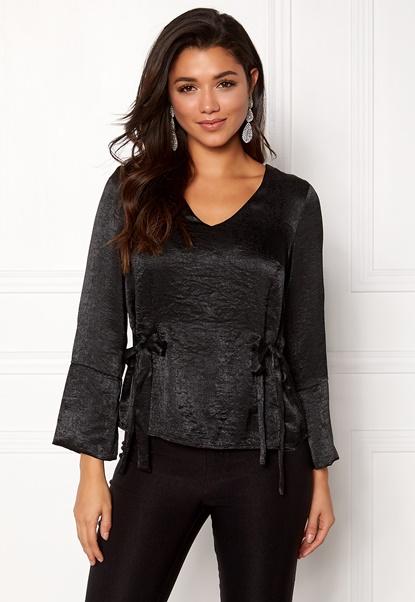 Happy Holly Jannike blouse Black Bubbleroom.se