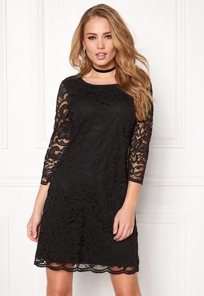 Happy Holly Lina lace dress Black Bubbleroom.no