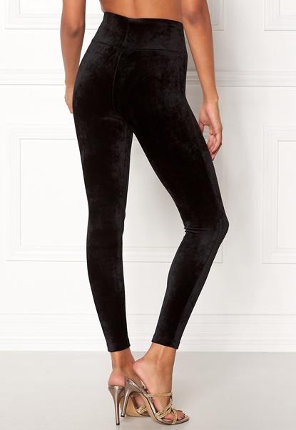 Happy Holly Reese velour pants Black Bubbleroom.dk