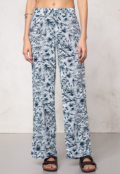 Make Way Harper  Trousers White / Blue / Patterned Bubbleroom.eu