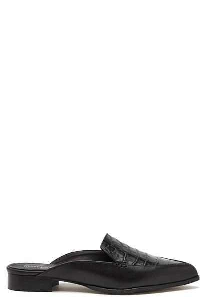 Henry Kole Elle Croco Shoe Black Bubbleroom.se