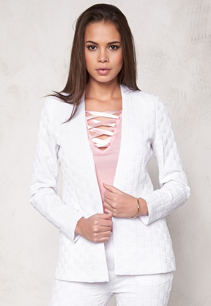 Make Way Aerin  Ladies Suit jacket White Bubbleroom.eu