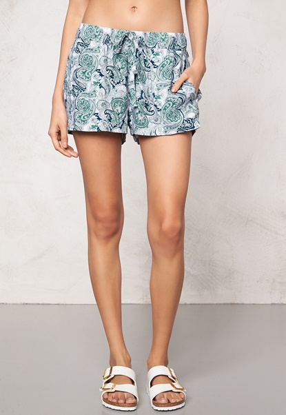 Make Way Keira Shorts Green / Blue / Paisley Bubbleroom.eu